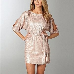 Jessica Simpson cold shoulder sequin dress Medium